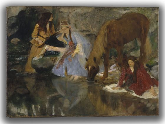 "Degas, Edgar: Portrait of Mlle Fiocre in the Ballet ""La Source"". Fine Art Canvas. Sizes: A4/A3/A2/A1 (003756)"